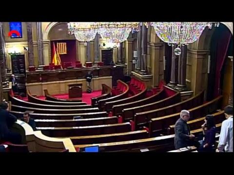 Comparecencia de Puigdemont en el Parlament