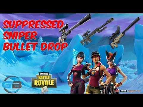 Supressed Sniper Bullet Drop Off Vs Heavy And Bolt Sniper