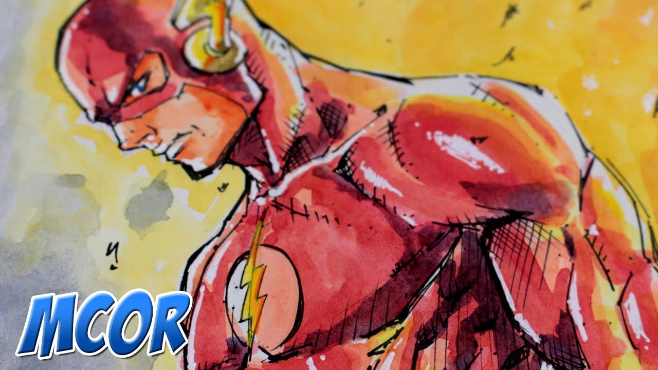 Dibujando A Flash De Dc Comics