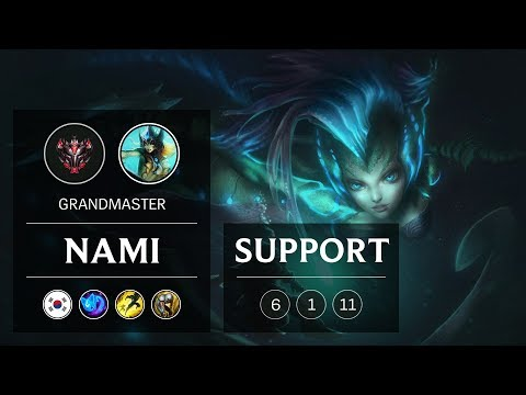 Nami Support vs Galio - KR Grandmaster Patch 9.4
