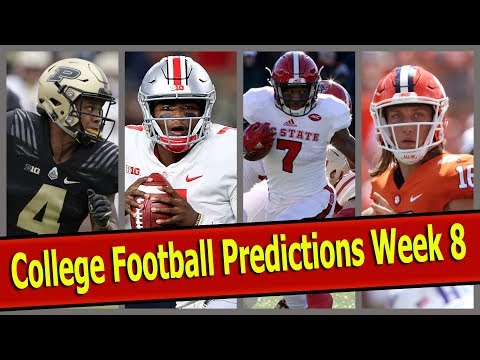 College Football Predictions Week 8