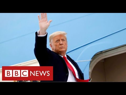 """Trump's last day as President: """"Movement we started only just beginning"""" - BBC News"""