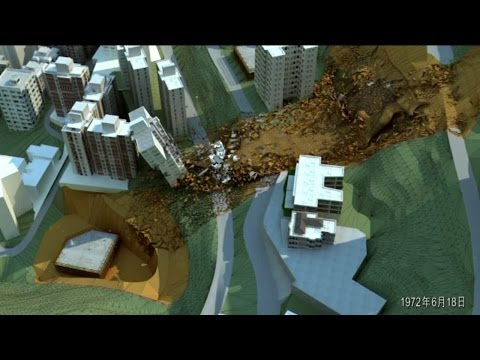 Computer Animation of the 1972 Po Shan Road Landslide