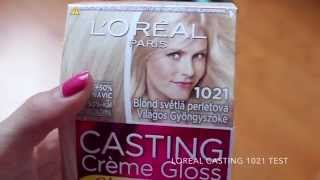 LOREAL CASTING 1021 BLOND TEST BEFORE-AFTER!