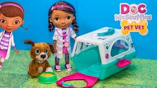 Doc McStuffins Vet Doctor with  Findo Puppy Toy Unboxing