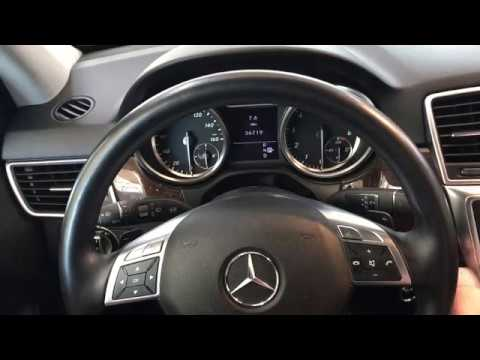 2012 Mercedes Benz ML350 how to retract the electric rear parking brake