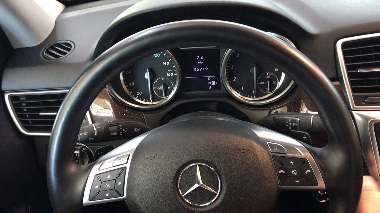 2012 Mercedes Benz ML350 how to retract the electric rear ...