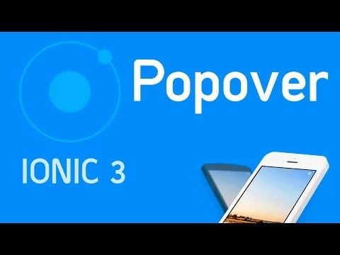 Ionic 3 Tutorial #11 Component Popover - YouTube