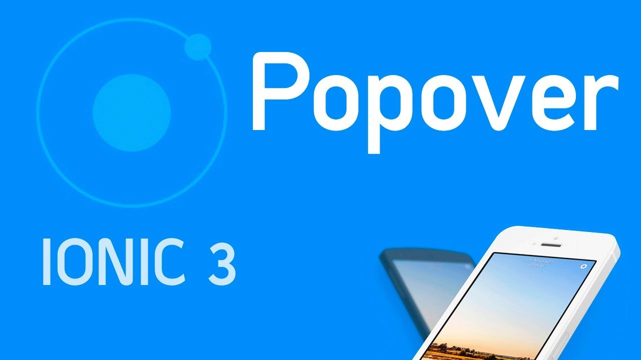 Ionic 3 Tutorial #11 Component Popover