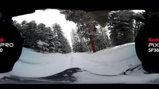 KODAK PIXPRO SP360: Snowboarding in Winter Park