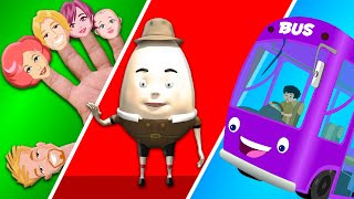 Finger Family | Wheels On The Bus | Nursery rhymes for preschool kids | kids songs abc song