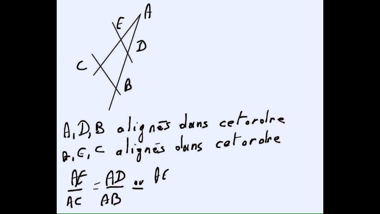 Brevet Blanc Revisions De Geometrie Youtube
