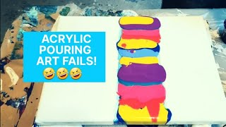 Acrylic Pouring | FUNNY FAIL COMPILATION | Fluid Art Fun! | What NOT to do in Abstract Art!
