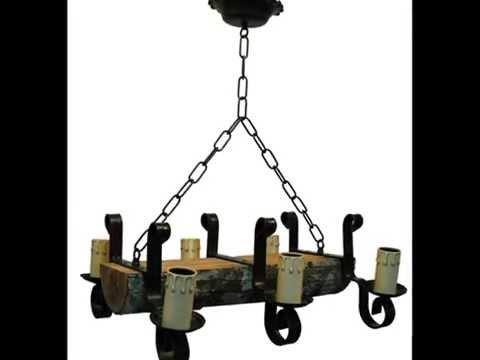 Lámparas rusticas con troncos. fabricantes   youtube