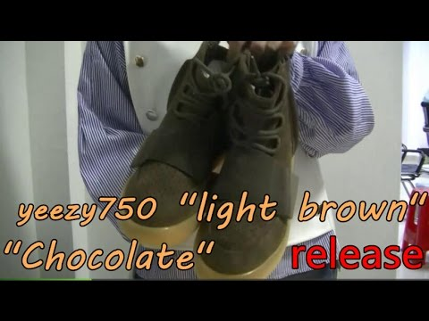 157858ea4c8 Adidas Yeezy Boost 750 Chocolate light brown+l on feet review from ...