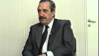 """Raúl Alfonsín habla sobre Manuel Sadosky"""