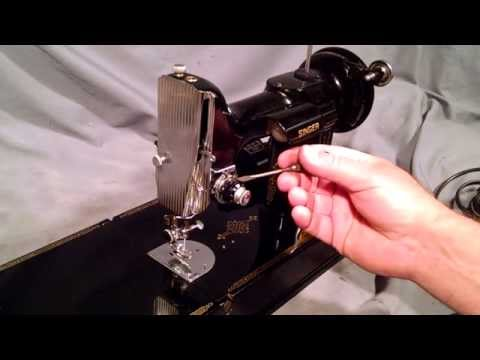 How to Thread a Vintage Singer Featherweight 221 Sewing Machine and Bobbin Case