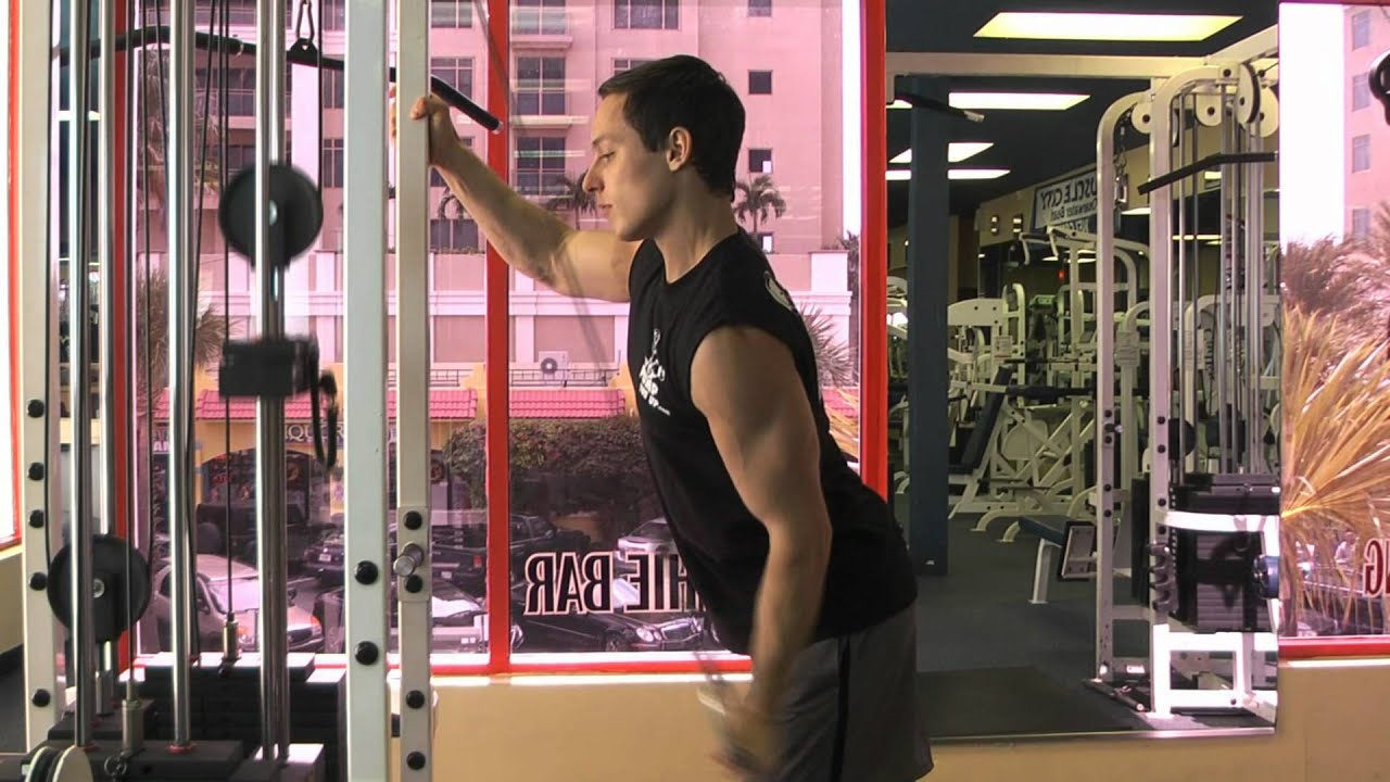 Cable One Arm Tricep Extension - How To - YouTube