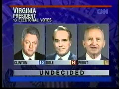 1996 US Election Coverage CNN Part 2