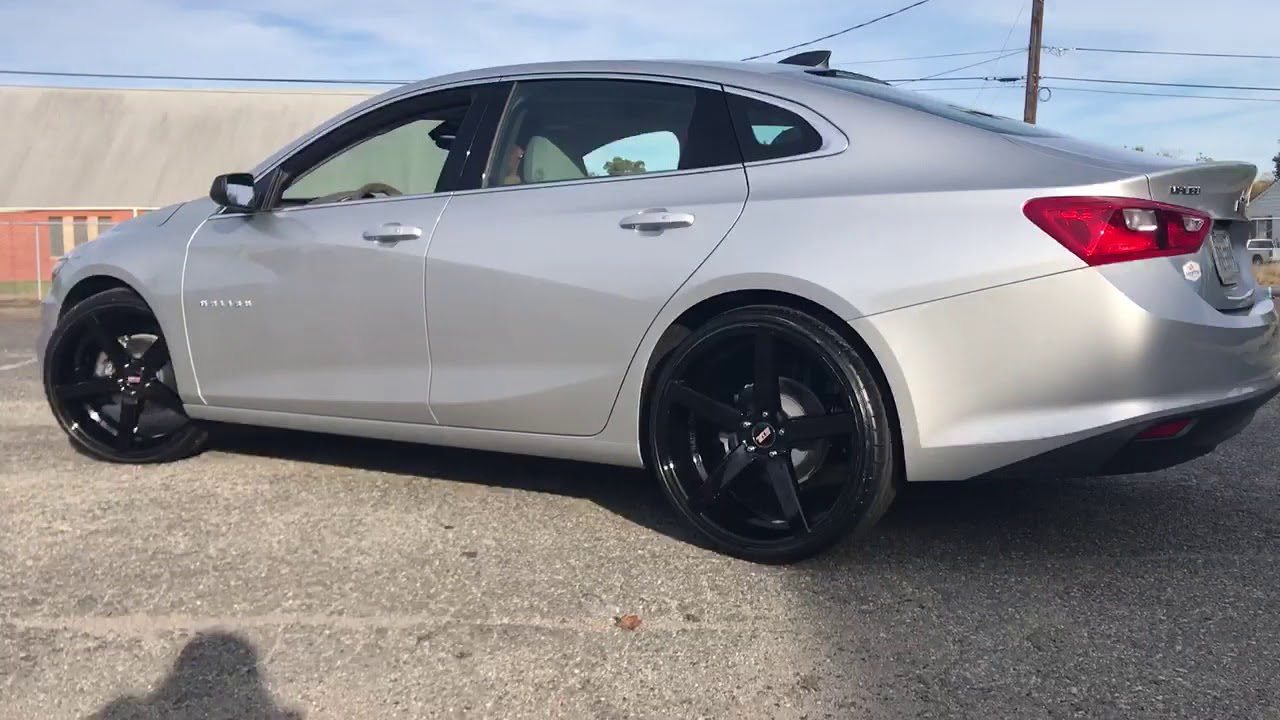 2018 Chevrolet Malibu Sitting On 22 Str 607 Gloss Black Wred In 245 30 S