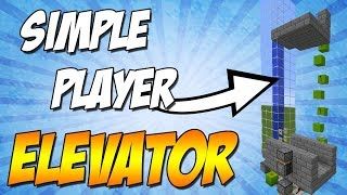SIMPLE Up and Down WORKING Player Elevator - Minecraft 1.13