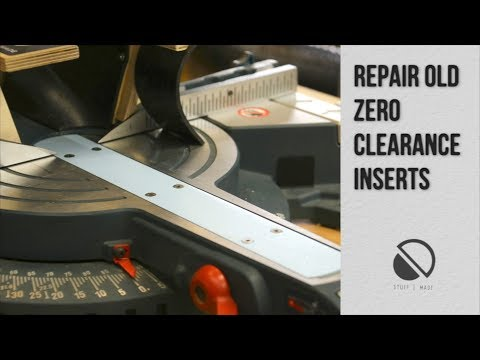 Quick tip -  Zero Clearance Inserts