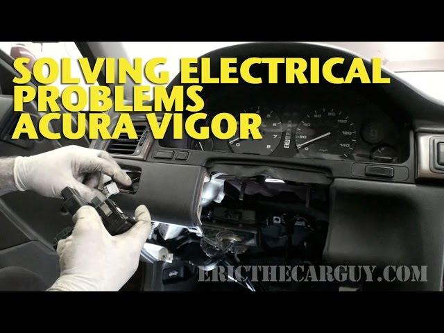 Solving Electrical Problems Acura Vigor -EricTheCarGuy - YouTube | Acura Vigor Fuse Box |  | YouTube