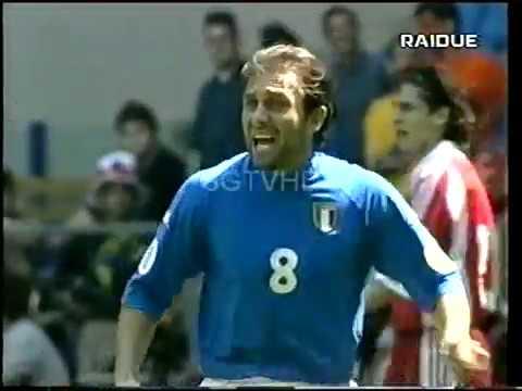 EURO 2000 ITALIA TURCHIA 2-1 SUPER GOL DI ANTONIO CONTE SERVIZIO DELLA DOMENICA SPORTIVA