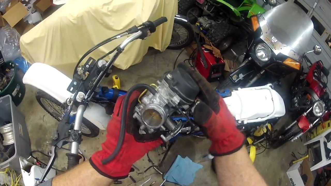 Suzuki DR250 Carburetor Removal - YouTube