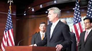House Majority Whip Kevin McCarthy at House Repubican leadership press conference