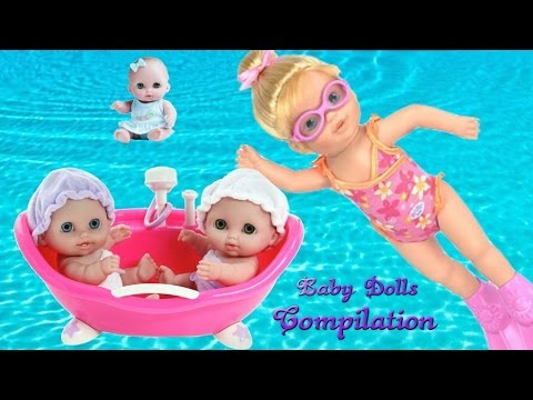 Baby Doll Bath Time Fun Pretend Play Baby Dolls Toys Video Compilation | TheChildhoodLife