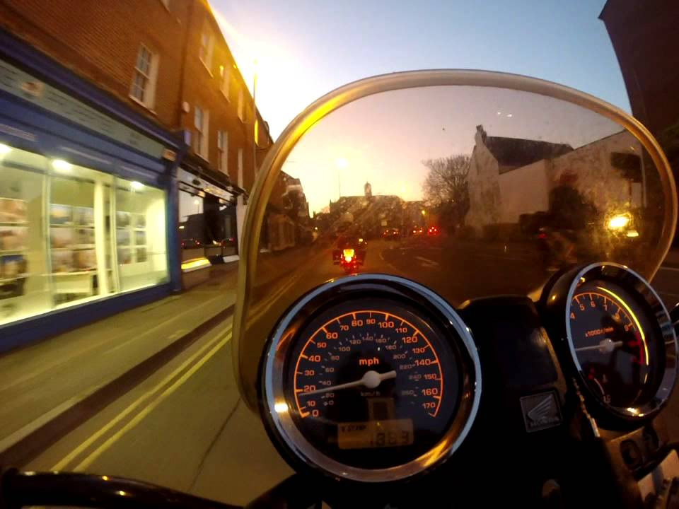 Honda Hornet 900 919 Motorcycle Ride GoPro