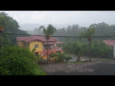 Rain Falling Live In Grenada: using my cell phone