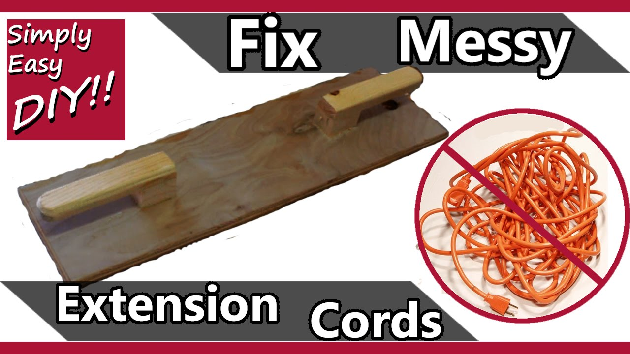 DIY: Extension cord holder - YouTube
