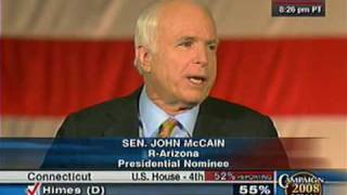 Senator John McCain Election Night Speech (Full Video)