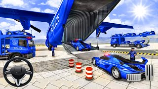 US Police Car Bike Transport Truck - US Police Car Transport Simulator - Android Gameplay screenshot 4