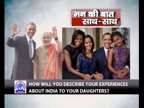 My daughters are fascinated by India: President Obama