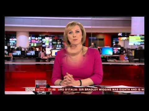 MARTINE CROXALL:-: BBC News at Nine  - 06 May 2013 -