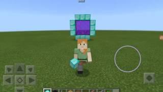 Minecraft elmastan portal yapımı telefondan