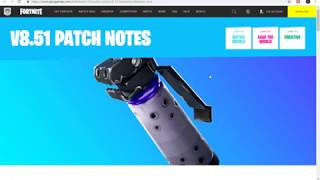 FORTNITE V8.51 PATCH NOTES | SHADOW BOMBS, CREATIVE DINER GALLERIES
