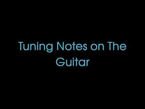 Guitar Tuning Notes - EADGBE Standard