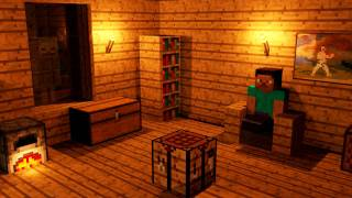 A Normal Night in Minecraft