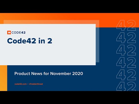 November 2020: Code42 in 2