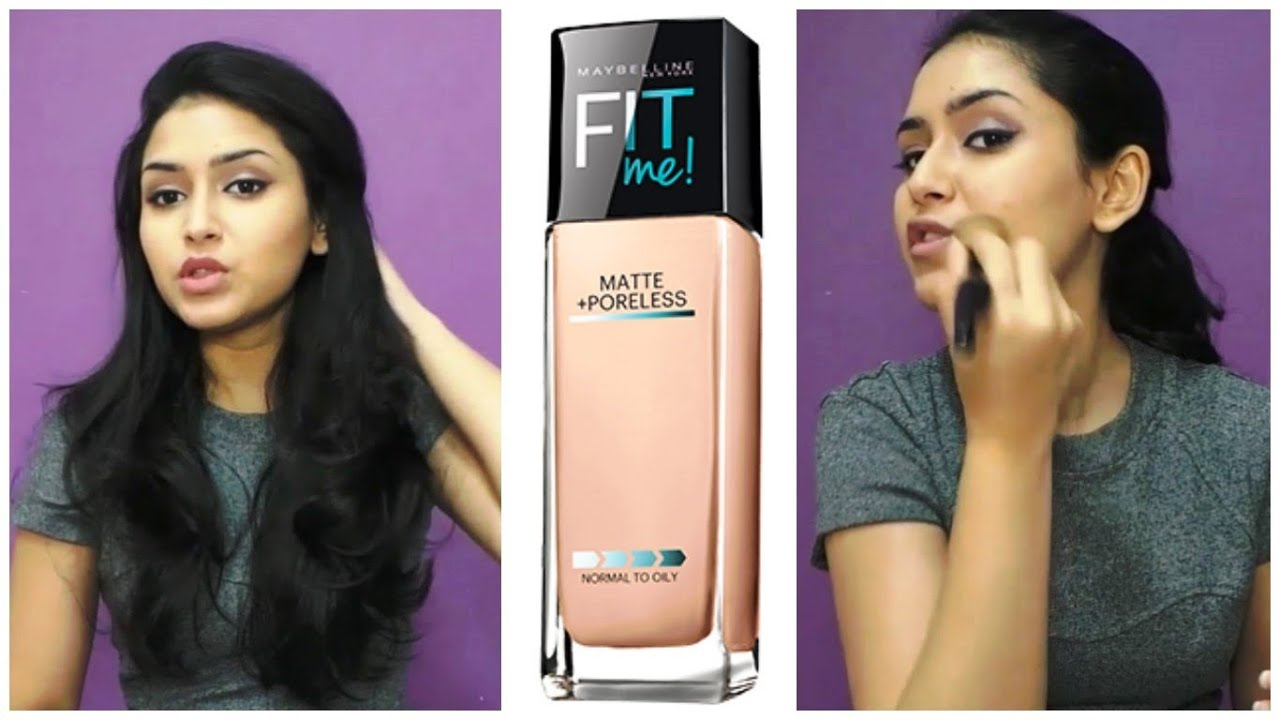 Maybelline Fit Me Foundation Review Demo Youtube Airyrooms Matte Poreless 30ml