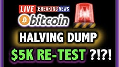 ⚠️ BITCOIN HALVING DUMP!! 5K SOON?!! ⚠️ LIVE Crypto Analysis TA & BTC Cryptocurrency Price News Now