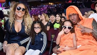 Kids' Choice Awards 2017: Nick Cannon and Mariah Carey Have Adorable Twinning Moment With Their Kids