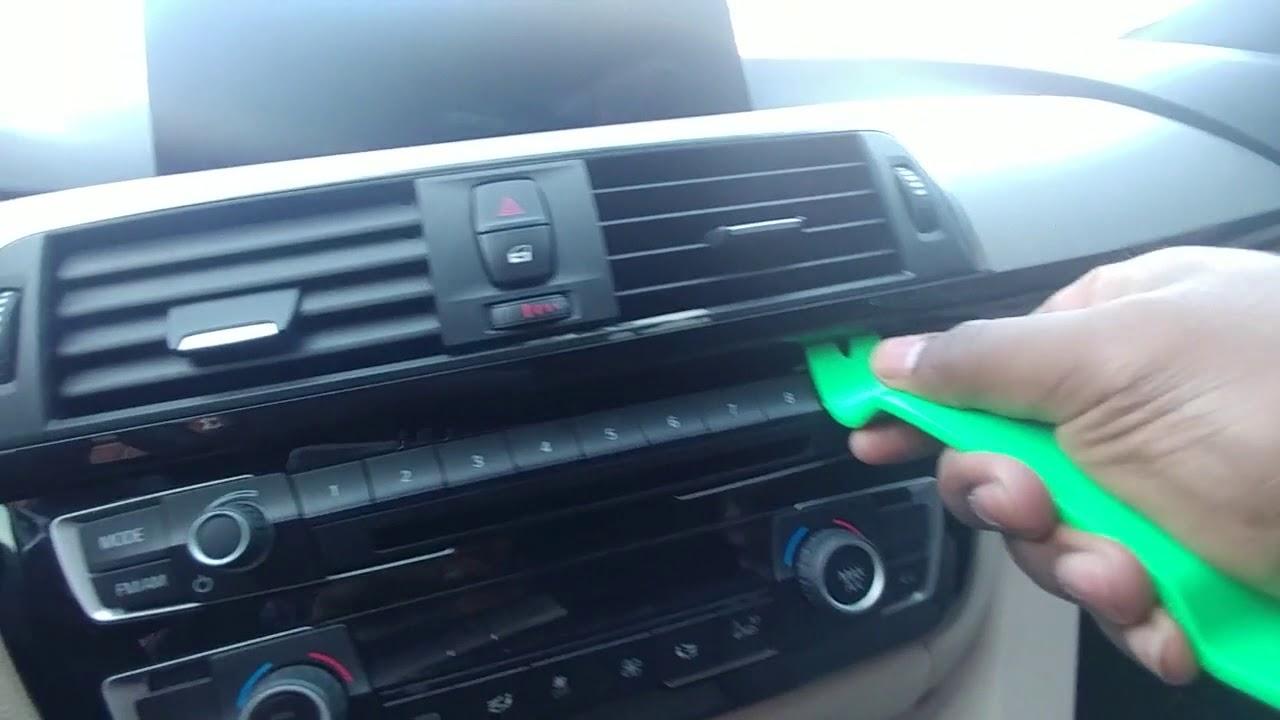 Carbon Fiber Wrap Bmw F30 Interior Trim Youtube