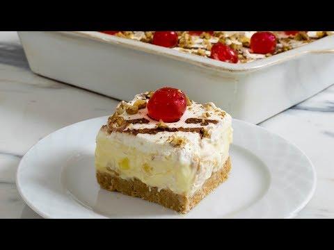 Banana Split Cake | No bake