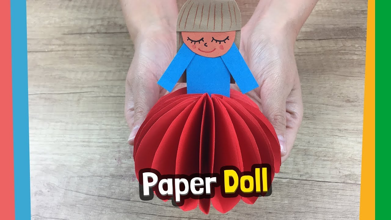 Diy Crafts How To Make Paper Doll Lovely And Cute Diy For Kids