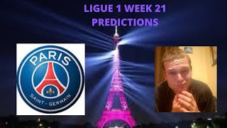 French Ligue 1 2019/20 Week 21 Predictions